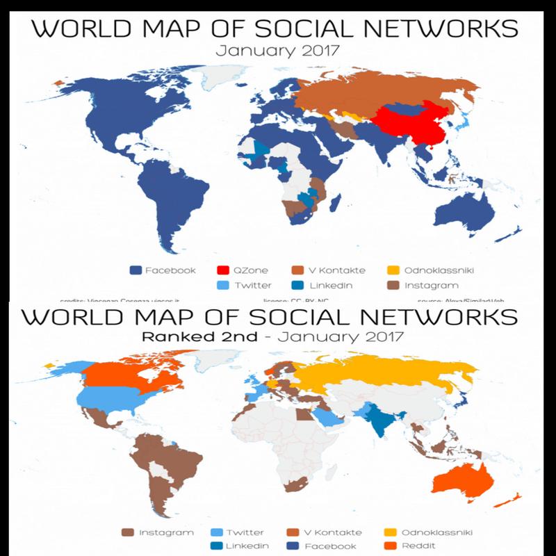 Novedad en WhatsApp, PayPal, Facebook; mapa de redes sociales y crónica semanal ?