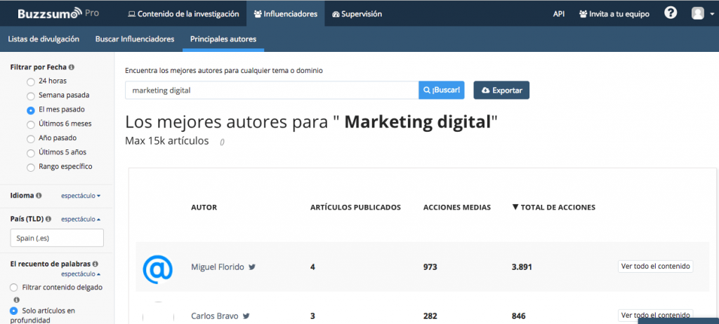BUZZSUMO+ ESTRATEGIA+MARKETING+INFLUENCER