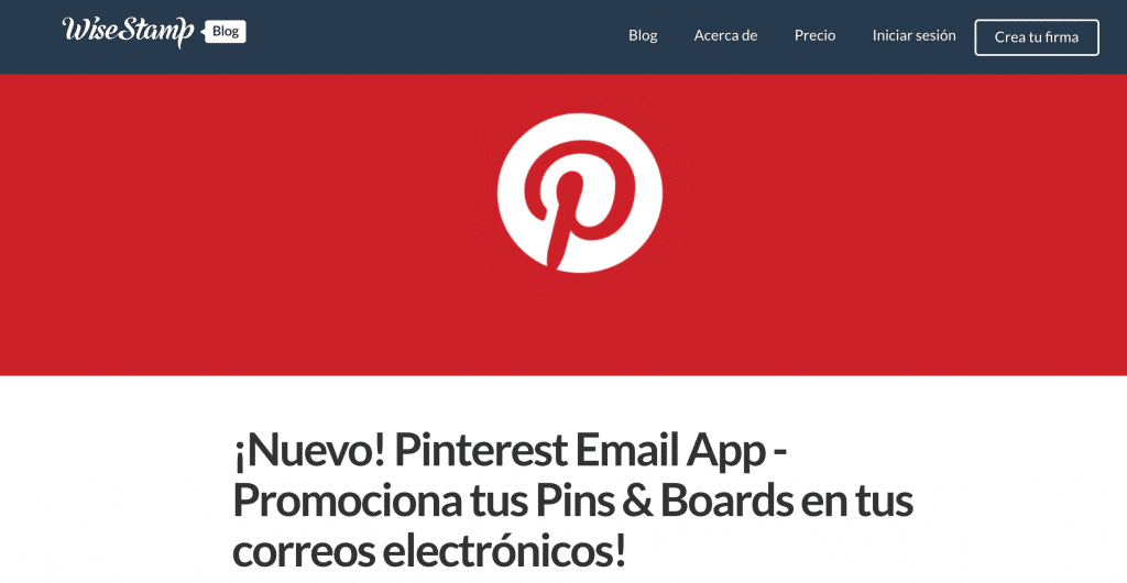Pinterest email apps