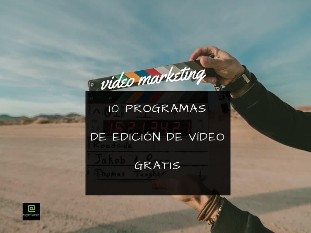 10 programas de edición de vídeo gratis