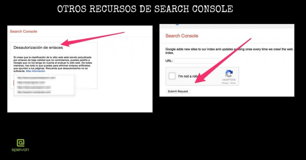Recursos search console