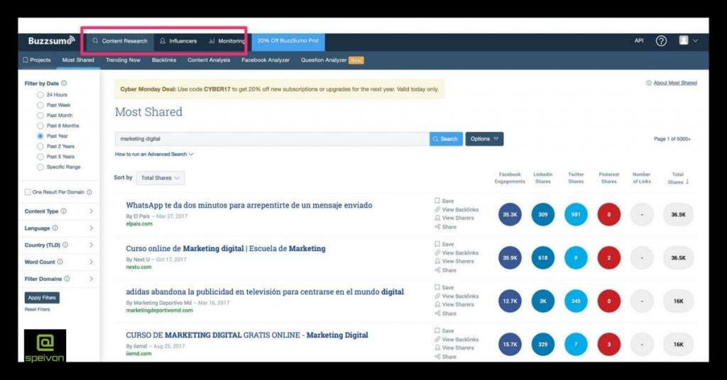 herramientas para la gestión de contenidos-buzzsumo