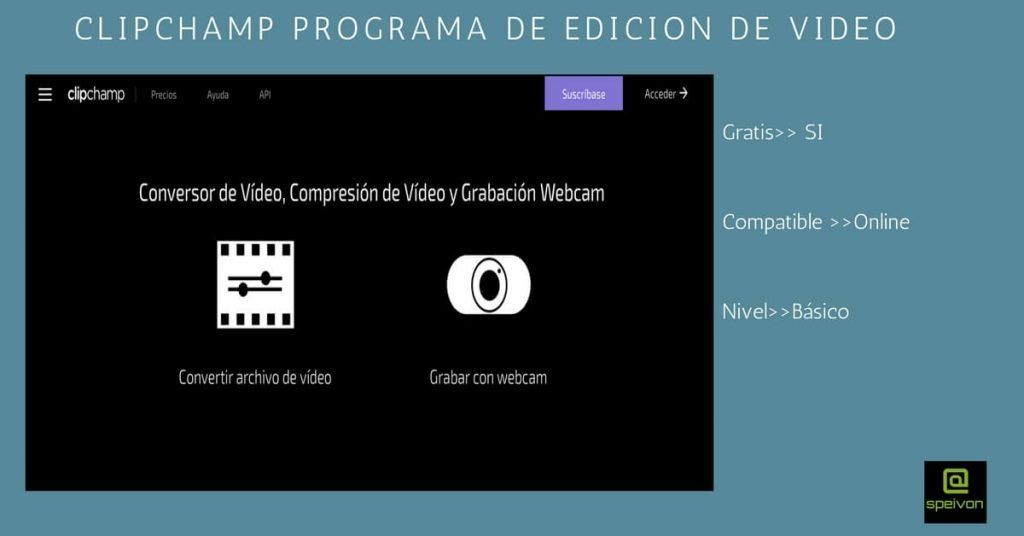 programas de edición video clipchamp