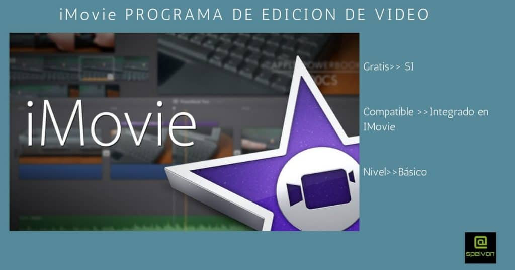 programas de edición de video iMovie