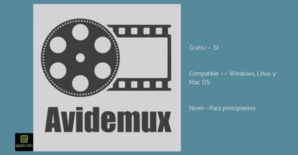 programas de edición de videoAvidemux